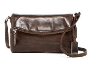 Frye Brown Vintage Distressed Urban Shoulder Bag