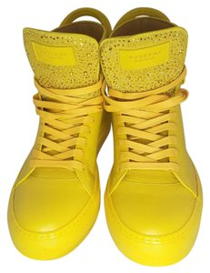 Buscemi Yellow and Crystal Flats