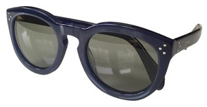 Céline Celine Navy blue Sunglasses with dark grey Polarized lenses.