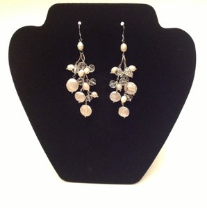 Brand New Swarovski Crystal And Pearl Chandelier Earrings