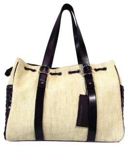 Kenneth Cole Woven Canvas Tote in Black