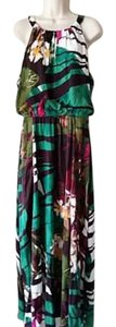 Green Floral Print Maxi Dress by Chico's Maxi