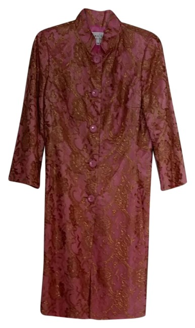 Preload https://img-static.tradesy.com/item/20575467/trina-turk-pink-with-gold-lace-overlay-tea-length-jacket-34-sleeves-night-out-top-size-8-m-0-4-650-650.jpg