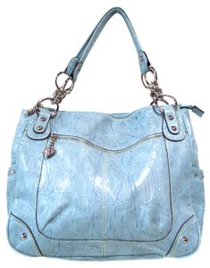 Kathy Van Zeeland Faux Leather Croco Hobo Bag