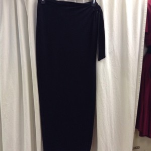 Lafayette 148 New York Vintage Wrap Maxi Skirt Black