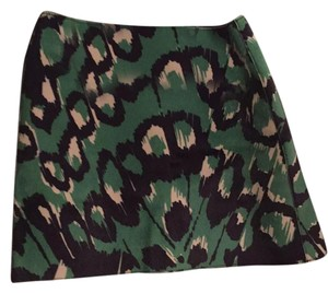 French Connection Mini Skirt Bright green, black & white
