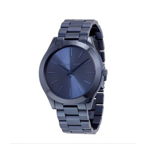 Michael Kors MICHAEL KORS Slim Runway Blue Dial Blue Ion-plated Ladies Watch
