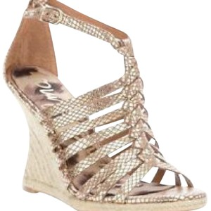 Sam Edelman Gold Wedges