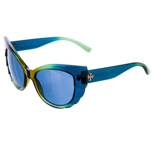 Tory Burch Blue, green, olive brown ombre acetate Tory Burch sunglasses