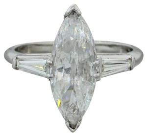 Other Platinum 2.22ctw Marquise Baguette Diamond Engagement Ring