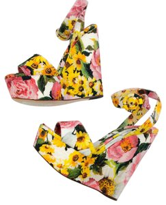 Dolce&Gabbana yellow green pink white Wedges