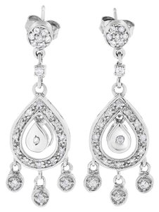 Other 0.75 Ct. Natural Diamond Chandelier Dangling Earrings in Solid 14k