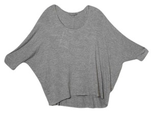 Daisy Fuentes Large L Batwing Knit Top Gray