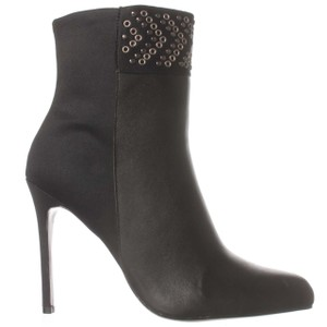 Adrianna Papell Leather Studded Black Boots