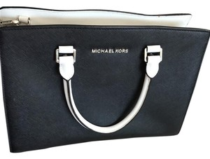 MICHAEL Michael Kors Satchel in black and white