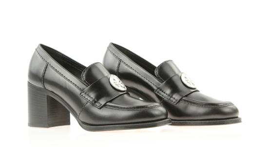 Chanel Cc Loafer Coin Penny Black Pumps Image 1