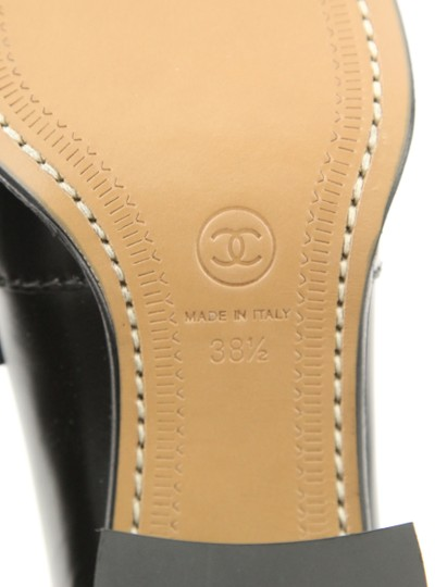Chanel Cc Loafer Coin Penny Black Pumps Image 10
