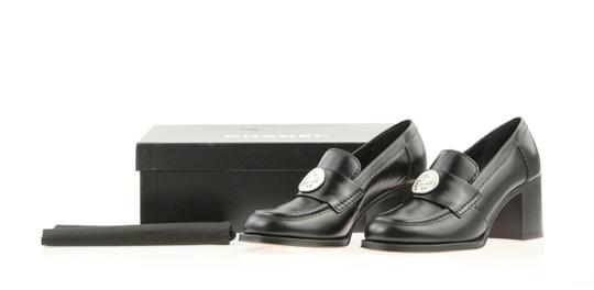 Chanel Cc Loafer Coin Penny Black Pumps Image 11