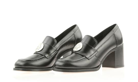 Chanel Cc Loafer Coin Penny Black Pumps Image 3