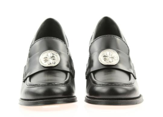 Chanel Cc Loafer Coin Penny Black Pumps Image 4