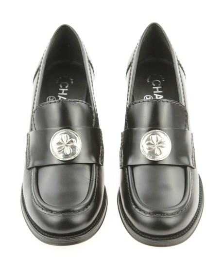 Chanel Cc Loafer Coin Penny Black Pumps Image 5