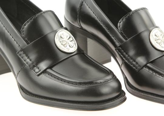 Chanel Cc Loafer Coin Penny Black Pumps Image 6