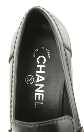 Chanel Cc Loafer Coin Penny Black Pumps Image 8