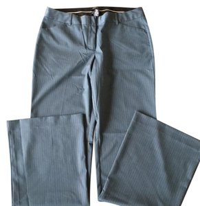 Victoria's Secret Boot Cut Pants periwinkle blue with white pinstripes