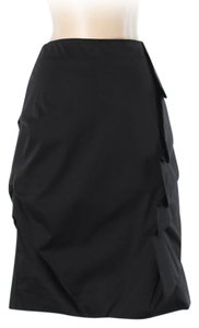 Shin Choi Cotton Rouched Layered Pencil Skirt Black