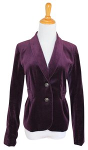 J.Crew Velvet Rich Work Holiday Purple Blazer