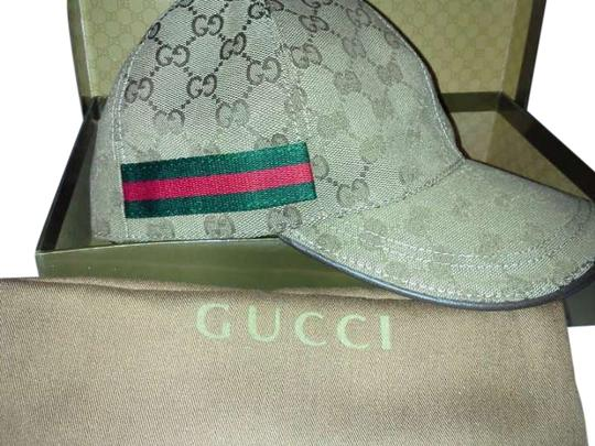 Preload https://item2.tradesy.com/images/gucci-tan-red-and-green-baseball-vomo-hat-205761-0-0.jpg?width=440&height=440
