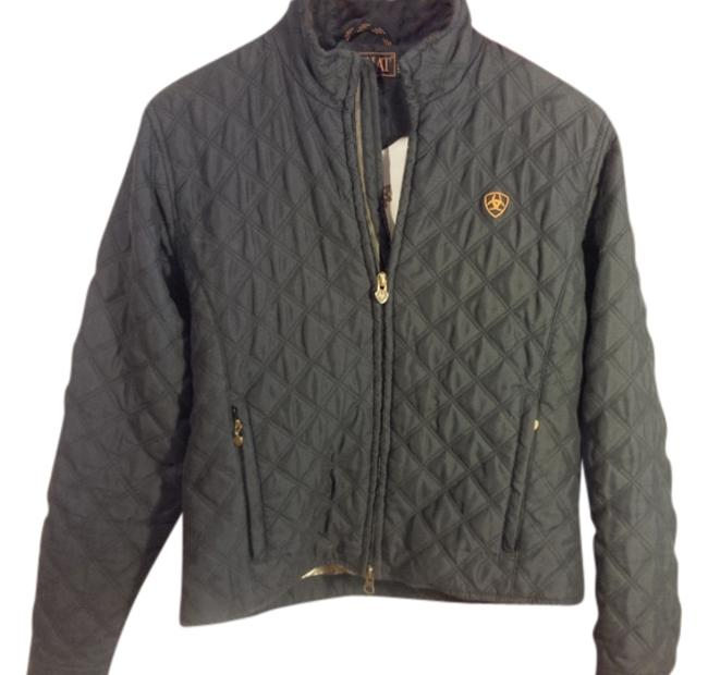 Item - Black Quilted Jacket Size 4 (S)