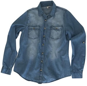 Passport Denim Shirt Ships Next Day Button Down Shirt Light Wash