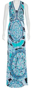 Emilio Pucci V-neck Sleeveless Print Maxi Dress