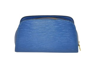 Louis Vuitton Louis Vuitton Dauphine Blue Epi Leather Cosmetic Pouch