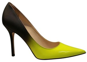 Jimmy Choo Neon Yellow/Black Degrade Pumps