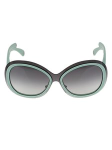 Louis Vuitton LOUIS VUITTON Green Two-Tone Acetate Frame Flore Sunglasses-Z0452U
