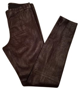 Vince Leather Pants Leather Leather Brown Leggings