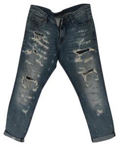 Cult of Individuality Boyfriend Cut Jeans-Dark Rinse