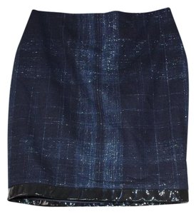 Yigal Azrouël Mini Skirt black navy