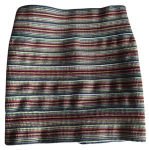 Pleasure Doing Business Mini Bandeau Mini Skirt Rainbow Stripe