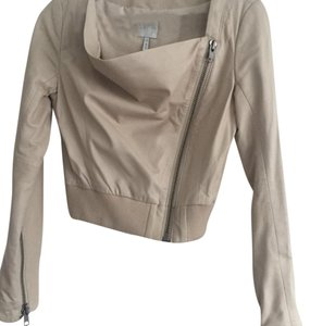 Leith Cream Leather Jacket