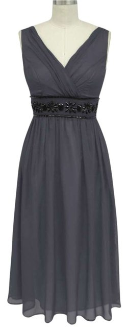 Preload https://item1.tradesy.com/images/gray-beaded-waist-sizelarge-mid-length-formal-dress-size-14-l-205765-0-0.jpg?width=400&height=650