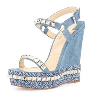 Christian Louboutin blue Wedges
