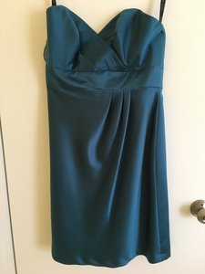 Alfred Angelo Tealness Satin Fit Modern Bridesmaid/Mob Dress Size 6 (S)