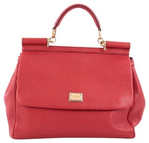 Dolce&Gabbana Leather Satchel in Red