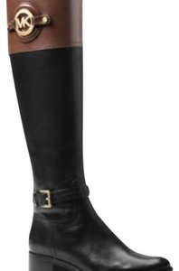 Michael Kors Black and Tan Boots