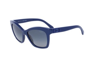 Chanel Brand New Chanel 5113 Blue Polarized Butterfly Signature Sunglasses