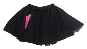 Betsey Johnson Tulle Tutu Mini Skirt Black