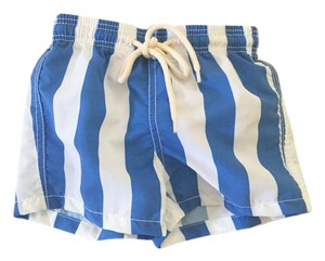 Solid & Striped Solid & Striped | Boys Blue & White Swim Trunks (Kids Size 6)